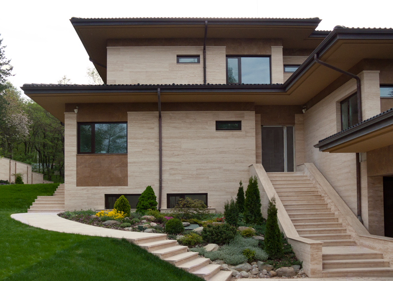 Travertine house